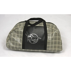 PONY LOGO TOTE BAG, LARGE PLAID