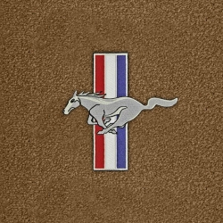 94-98 Floor mats, Parchment w/Pony + Bars Emblem (Coupe)